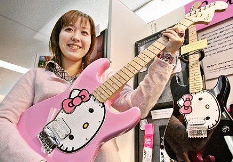 Гитара Hello Kitty Stratocaster