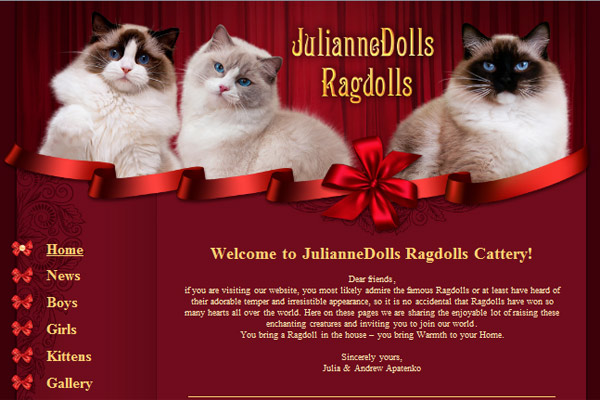 Питомник рэгдоллов JulianneDolls Ragdolls